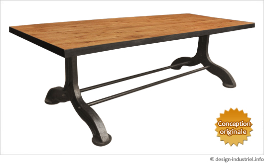 Grande table industrielle sur mesure - Table style industrielle ...