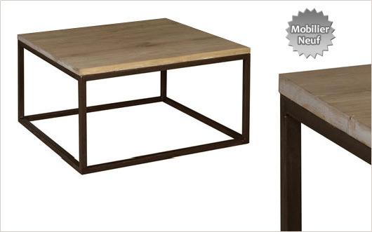 Table basse loft - Table ronde style industriel ...