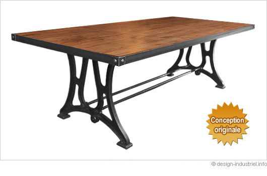 Design industriel mobilier industriel meuble industriel for Table de style industriel