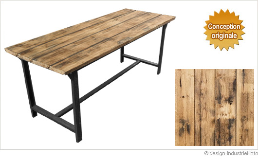 Design industriel mobilier industriel meuble industriel for Table salle a manger style loft